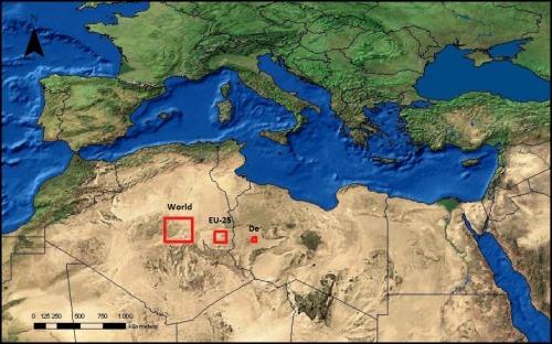 panneaux solaires désert